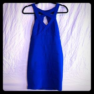 Brand new fitted blue dress.